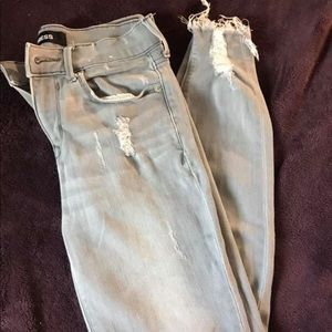 Grey washed Express brand jeans